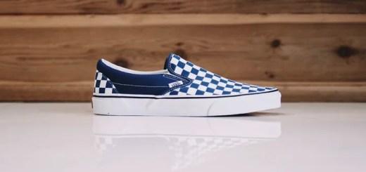 "VANS CHECKERBOARD Slip-On ""Estate blue"" (バンズ チェッカーボード スリッポン ""エステート ブルー"")"