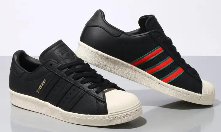 """2/5発売!ツイル地のスリーストライプスの端にディテールを施しているアディダス オリジナルス スーパースター 80s """"コア ブラック"""" (adidas Originals SUPERSTAR 80s """"Core Black"""") [CQ2656]"""