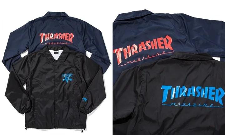 monkey time × THRASHER COACH JACKETが3月上旬発売 (モンキータイム スラッシャー)