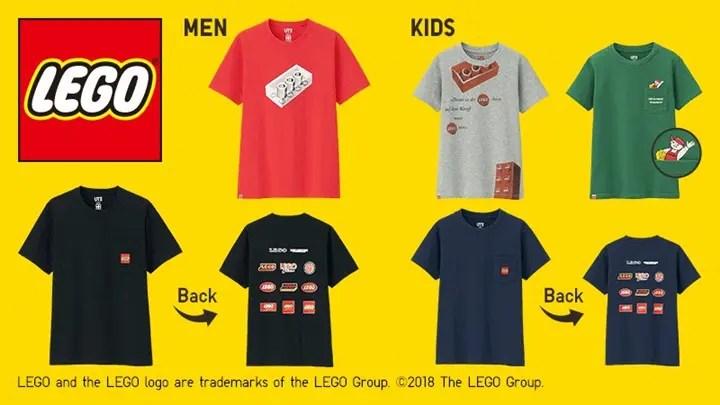 2018年はレゴ ブロック60周年、ミニフィギュア40周年。そんなアニバーサリーイヤーを記念して、UTだけのオリジナルグラフィックコレクションが2/26から発売 (ユニクロ UNIQLO LEGO)