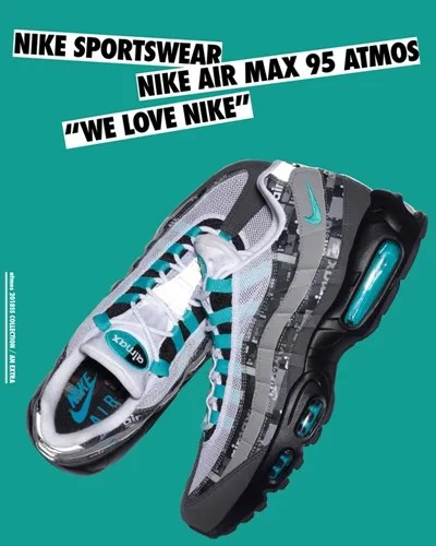 """いよいよオフィシャルに登場!ナイキ エア マックス アトモス """"ウィー ラブ ナイキ"""" (NIKE AIR MAX ATMOS """"WE LOVE NIKE"""") [AQ0925,0926,0927]"""