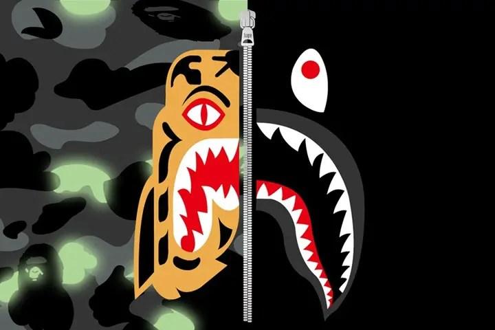 A BATHING APEから蓄光のCITY CAMOを採用した「TIGER SHARK COLLECTION」が4/21から発売 (ア ベイシング エイプ)