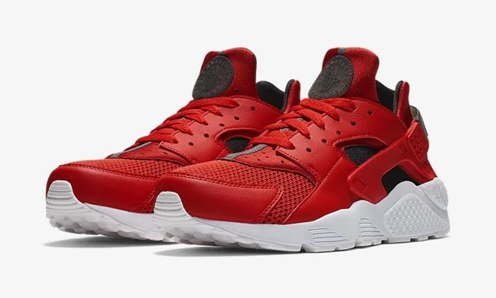 e3d1a396a4cd NIKE AIR HUARACHE 318429 609 HABANERO RED  BLACK  WHITE