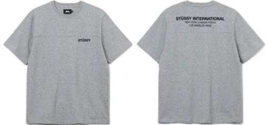 STUSSYから、前後のヨークの切り替えと背面にインターナショナルロゴをプリントしたクルーネック カットソーなどの新作が発売 (ステューシー)