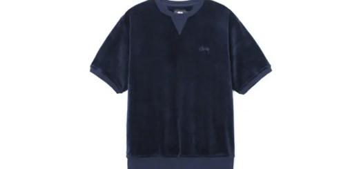 STUSSYから、前襟にクラシックなガゼットリブを切り替えたショートスリーブ型のベロアクルーなどの新作が発売 (ステューシー)
