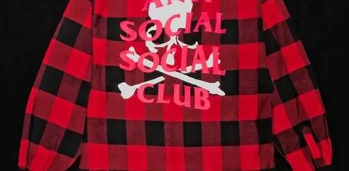 """mastermind TOKYOにて、5/3から先着でAnti Social Social Club コラボ""""flannel shirt""""がリリース (マスターマインド トウキョウ アンチ ソーシャル ソーシャル クラブ)"""