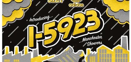 """5/18発売!SIZE? × adidas Originals I-5923 """"Manchester Showers"""" (サイズ アディダス オリジナルス I-5923 """"マンチェスター シャワーズ"""")"""