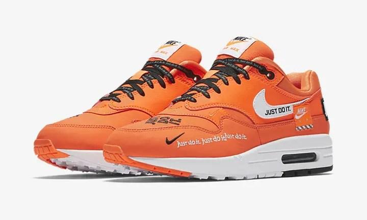 """6/28発売!ナイキ """"ジャスト ドゥ イット"""" コレクション ウィメンズ エア マックス 1 """"ホワイト/トータル オレンジ"""" (NIKE """"JUST DO IT"""" COLLECTION WMNS AIR MAX 1 """"White/Total Orange"""") [917691-100,800]"""