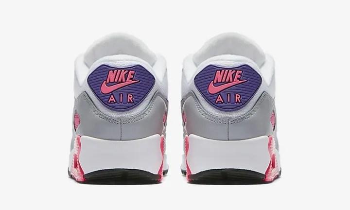"""【オフィシャルイメージ】ナイキ ウィメンズ エア マックス 90 """"ホワイト/コート パープル"""" (NIKE WMNS AIR MAX 90 """"White/Court Purple"""") [325213-136]"""