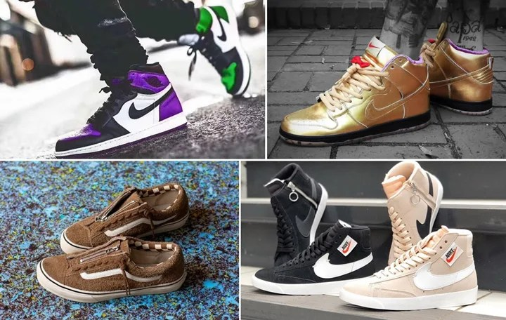 "【まとめ】9/22 発売の厳選スニーカー!(NIKE AIR JORDAN 1 RETRO HIGH ""Pine green/Court Purple"")(Humidity × SB DUNK HIGH ""Metallic Gold"")(WMNS BLAZER MID REBEL)(nonnative × VANS OLD SKOOL)他"