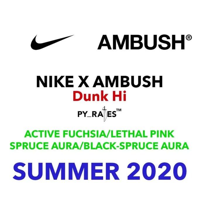 2020年夏発売予定!AMBUSH x NIKE DUNK HIGH (アンブッシュ ナイキ ダンク ハイ)