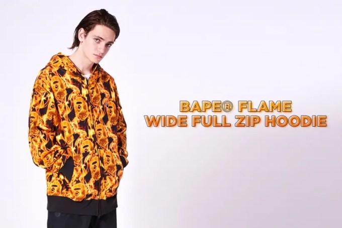 「燃え盛る炎」の新柄!A BATHING APE 2020 S/S 新柄「BAPE FLAME」を採用した数々のアイテムが2/1発売 (ア ベイシング エイプ