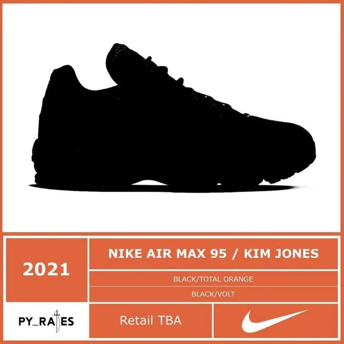 """【リーク】2021年発売予定!キム・ジョーンズ × ナイキ エア マックス 95 2カラー (KIM JONES NIKE AIR MAX 95 """"Black"""")"""