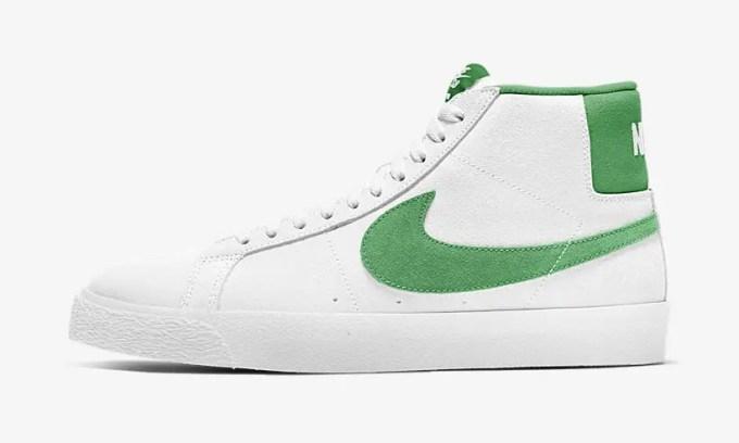 """ナイキ ズーム ブレーザー ミッド """"ホワイト/グリーン"""" (NIKE ZOOM BLAZER MID """"White/Green"""") [864349-106]"""