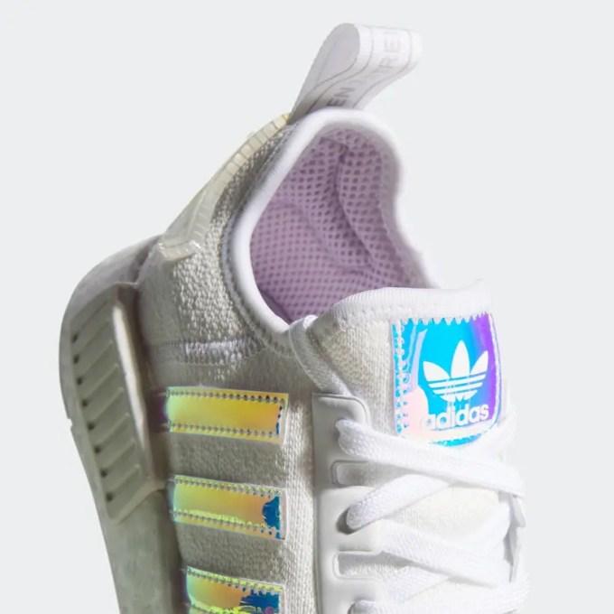 """イリディセントを備えた adidas Originals NMD_R1 """"White/Silver"""" (アディダス オリジナルス エヌ エム ディー """"IRIDESCENT/ホワイト/シルバー"""") [FY1263]"""