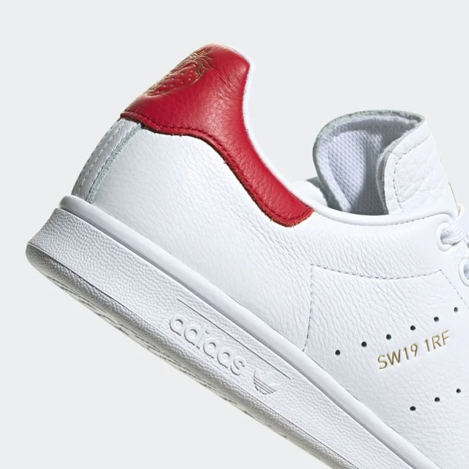 """8/7発売!ヒールに苺の刻印!アディダス オリジナルス スタンスミス (adidas Originals STAN SMITH """"White/Power Red"""") [FY9202]"""