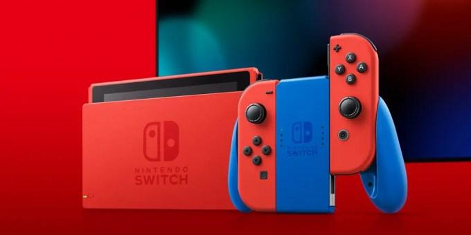 ニンテンドースイッチ 新色「マリオレッドxブルー」が2/12 発売 (Nintendo Switch)