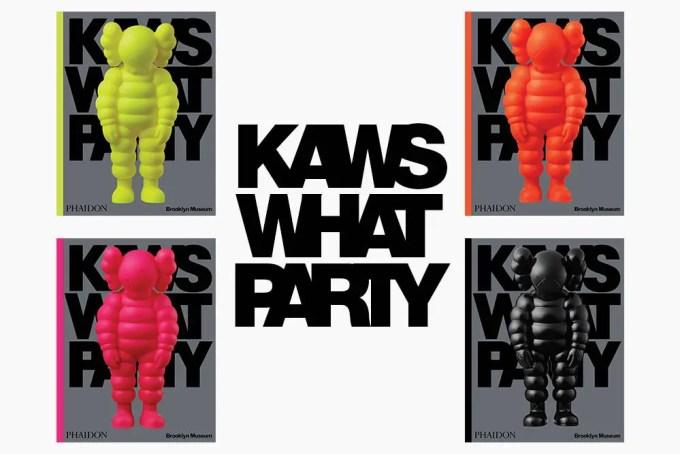 ブルックリンミュージアムで開催された「KAWS:WHAT PARTY」で発売された展覧会図録がA BATHING APEにて店舗別カラーで9/18 発売 (カウズ ワット パーティー)