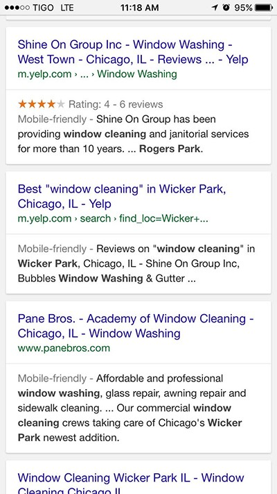 Your Local Search Results
