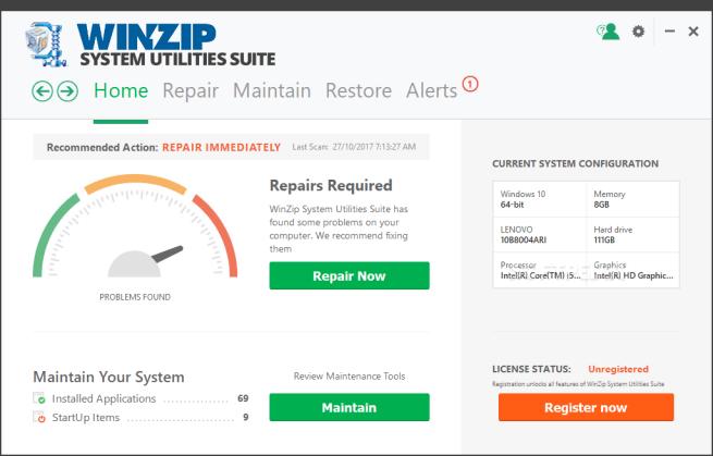 WinZip System Utilities Suite latest version