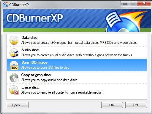 CDBurnerXP windows