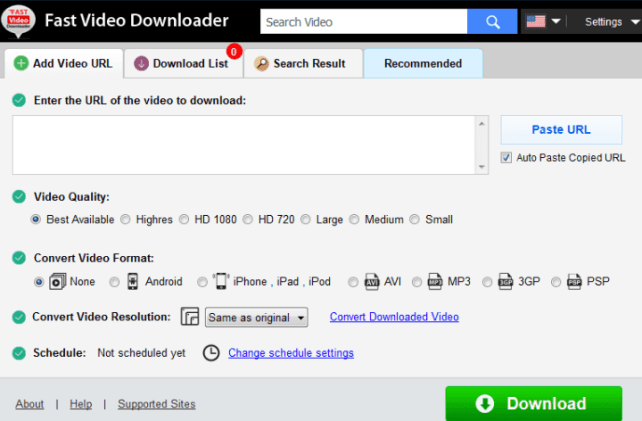 Fast Video Downloader windows