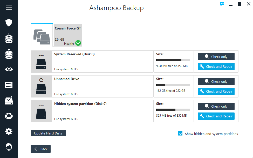 Ashampoo Backup windows