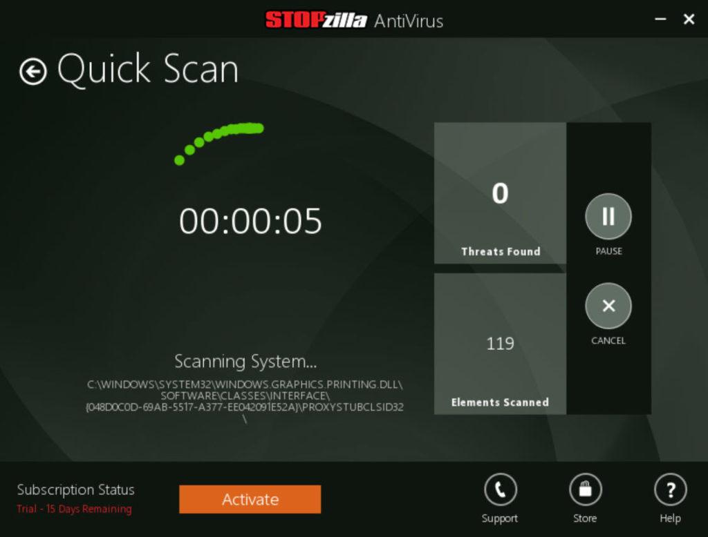 STOPzilla AntiVirus windows