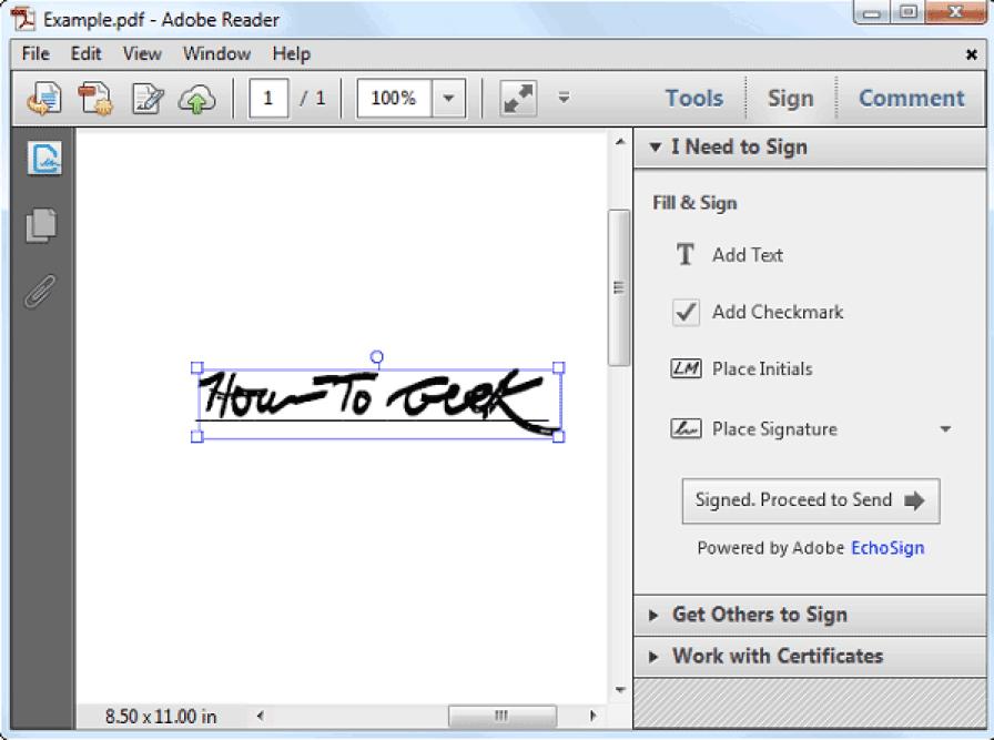 Adobe Reader PDF windows