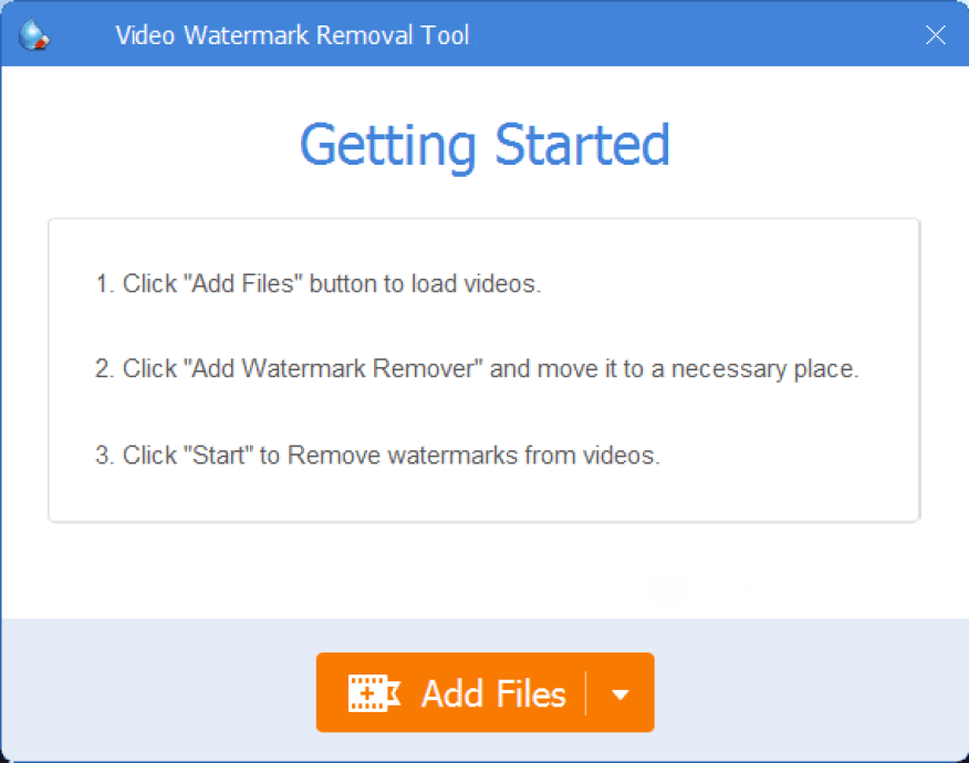 GiliSoft Video Watermark Removal Tool windows