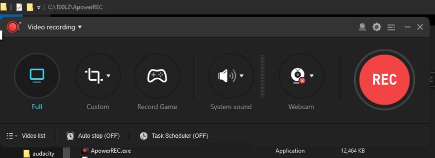 Apowersoft ApowerRec latest version