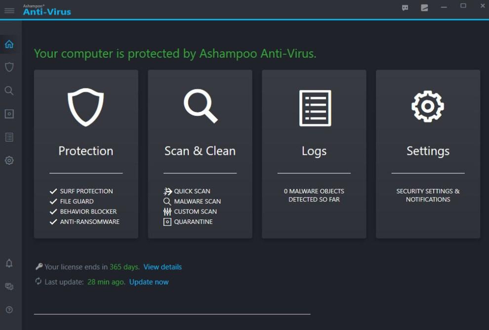 Ashampoo Anti-Virus windows