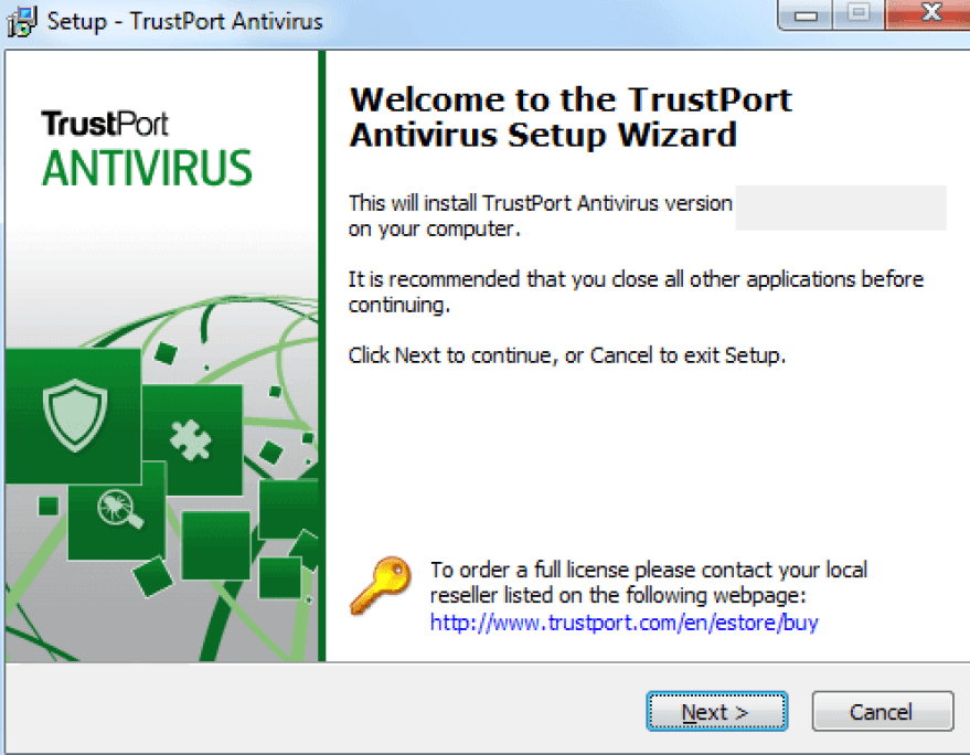 TrustPort Antivirus windows