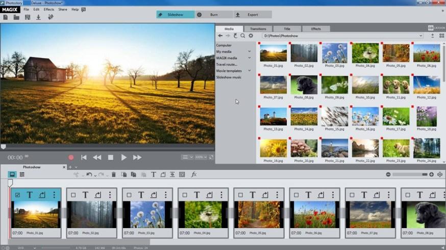 MAGIX Photostory Deluxe windows
