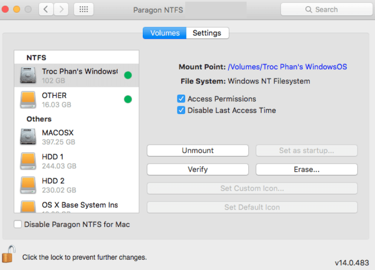 Paragon NTFS latest version