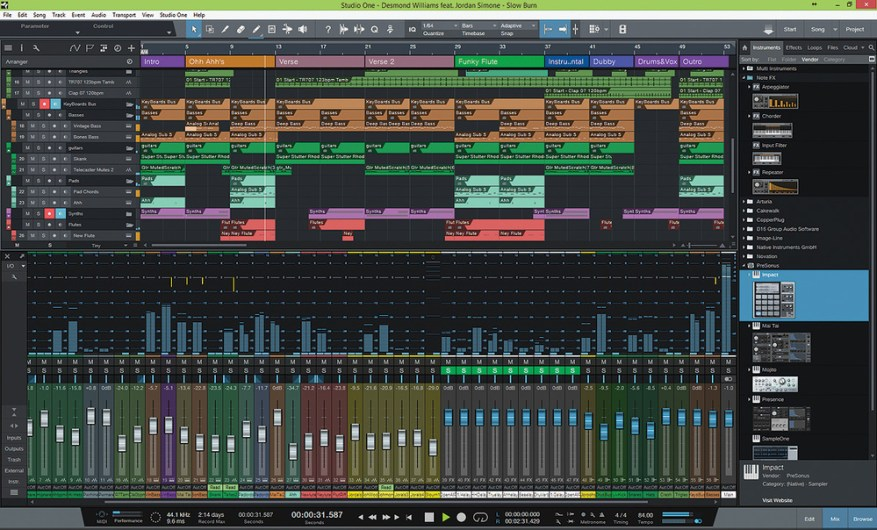 PreSonus Studio One Pro windows