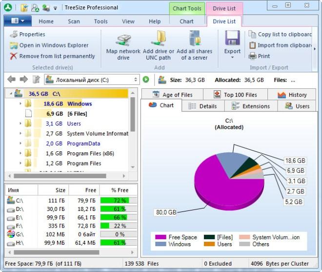 TreeSize Professional windows