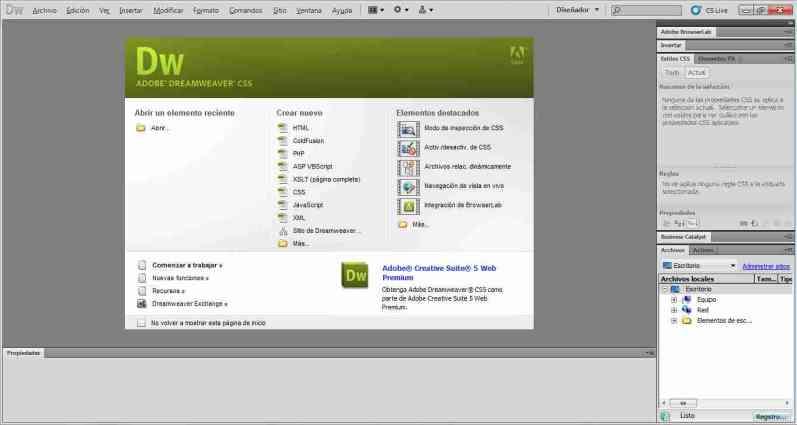 Adobe Dreamweaver windows