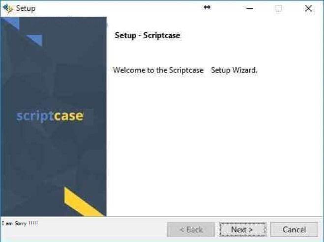 ScriptCase windows