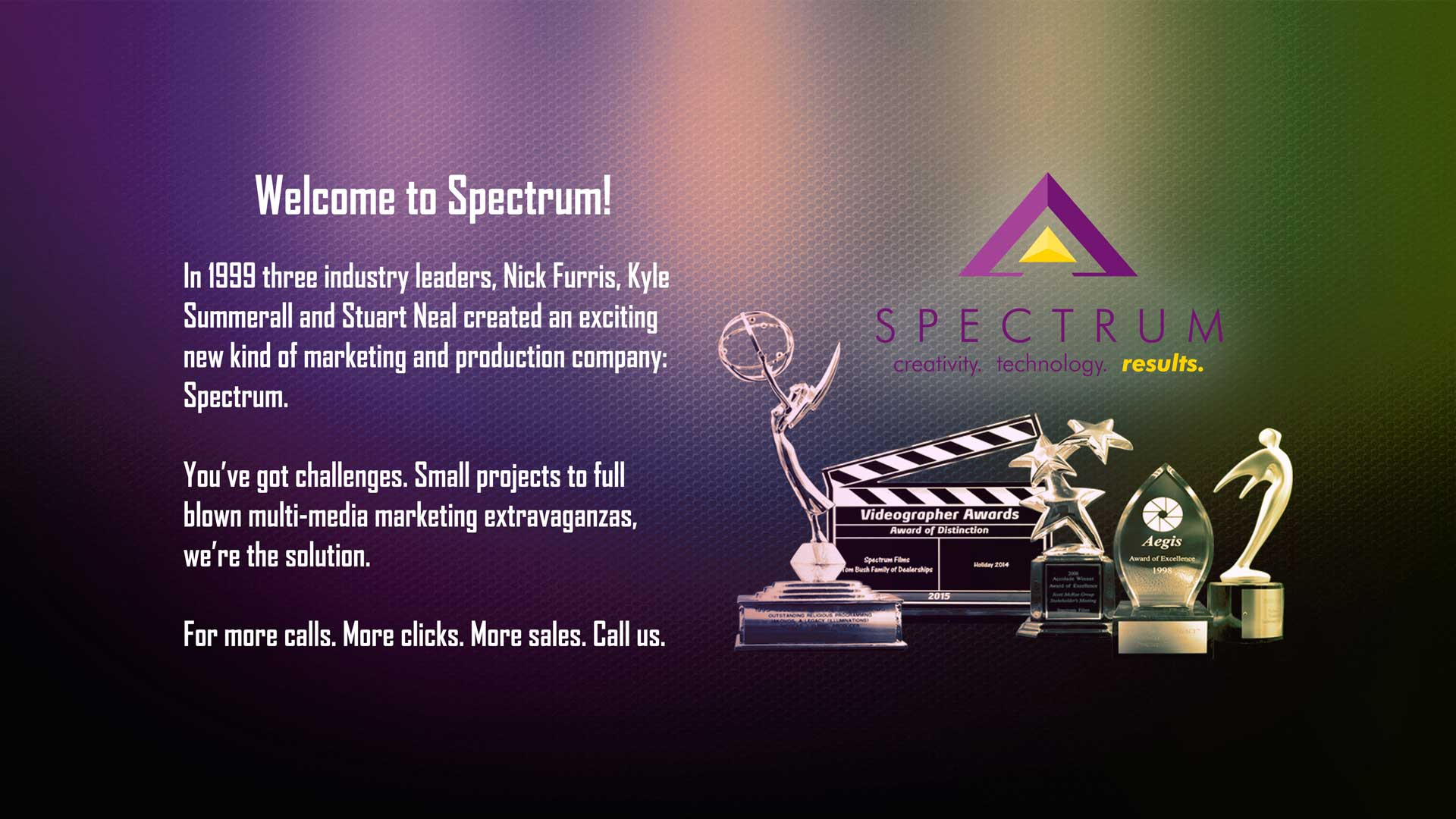 welcome video production tv emmy spectrum films