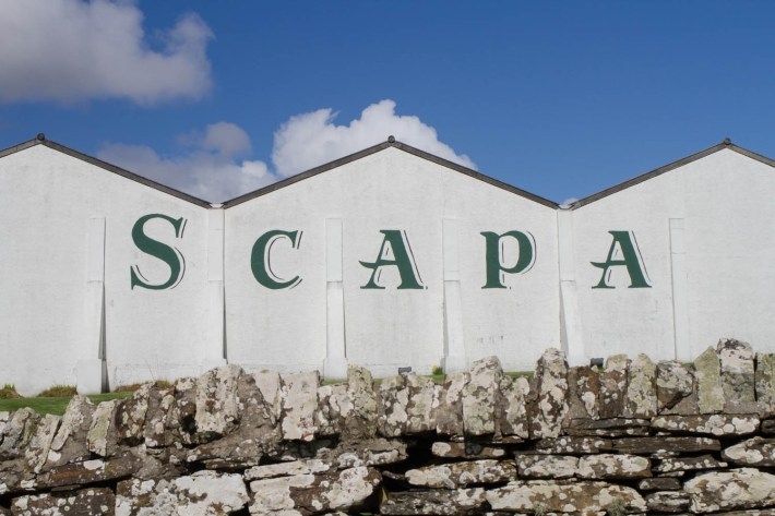 Distillery building with Scapa written in large letters