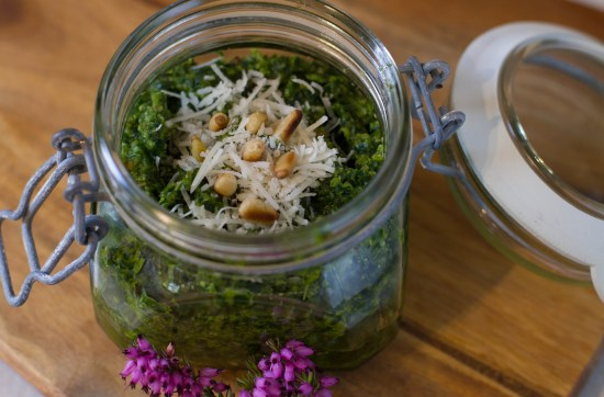 Wild Garlic Pesto Recipe, Scotland, Perthshire