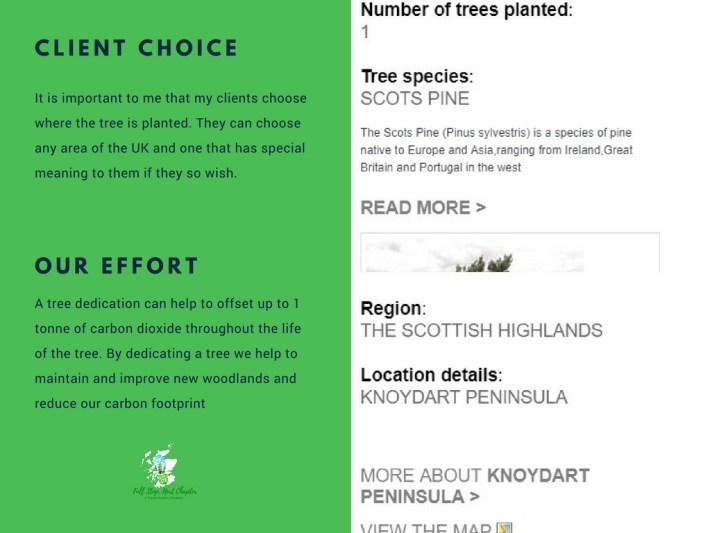 Tree dedication certificate