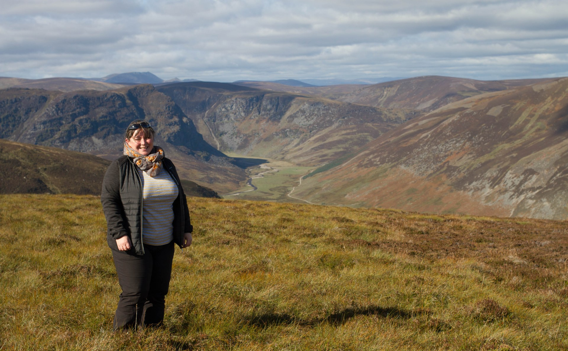 View over Angus Glens, with Glenesk Wildlife Tours