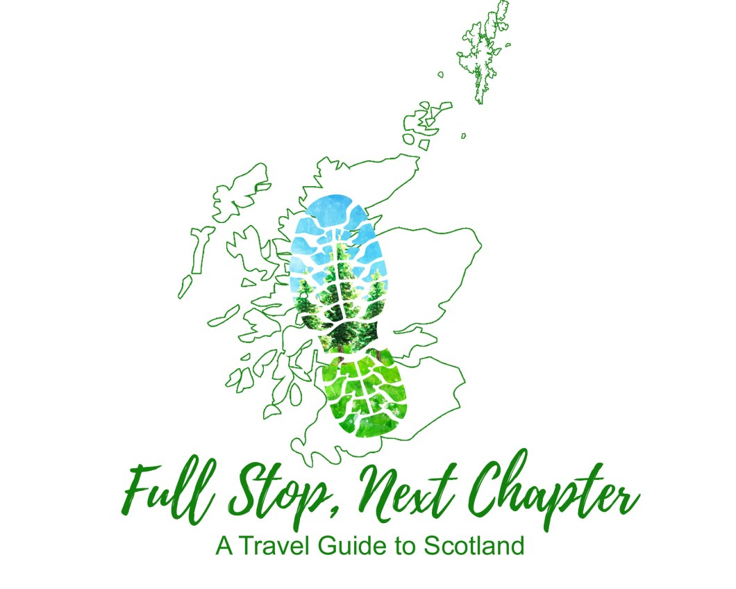 Map of Scotland with a boot print across it - logo