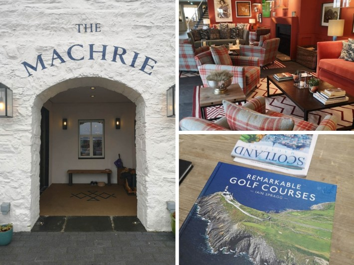 Three images of the Machrie Hotel, Islay.
