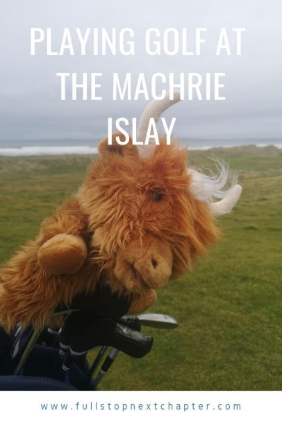 Pinterest graphic for golf at the Machrie