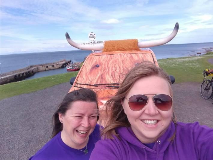 Coo-Van selfie at John O Groats