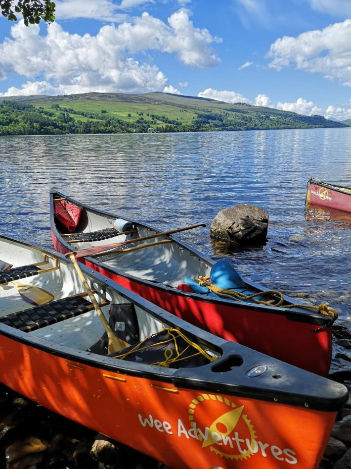 Wee Adventures, Canoeing on Loch Tay, Perthshire