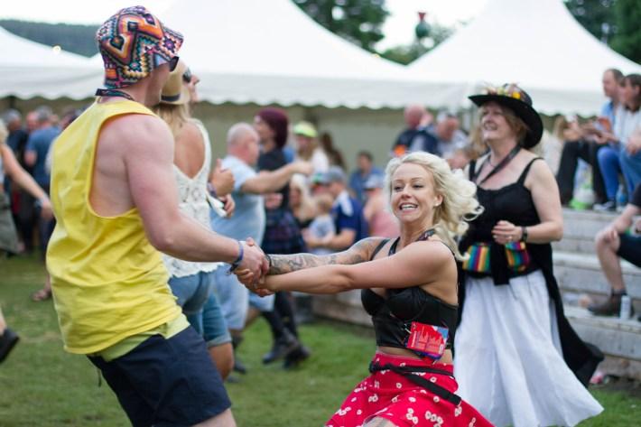 Dancing at Belladrum festival